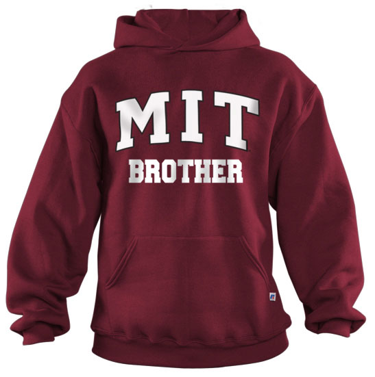 MIT Brother Maroon Hooded Sweatshirt