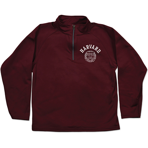 Harvard 1/4 Zip Youth Relay 1/4 zip Maroon Jacket