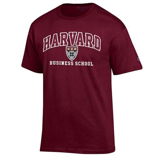 Versa Twill Harvard Business School Maroon T Shirt
