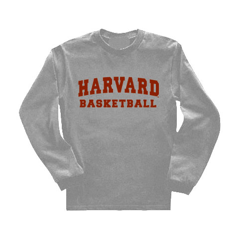 Harvard Long Sleeve Grey Basketball T Shirt
