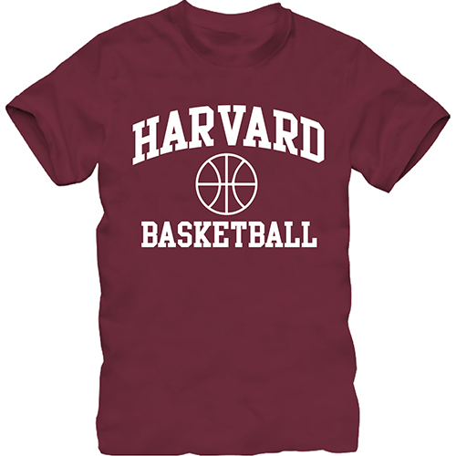 Harvard Basketball Maroon T  Shirt