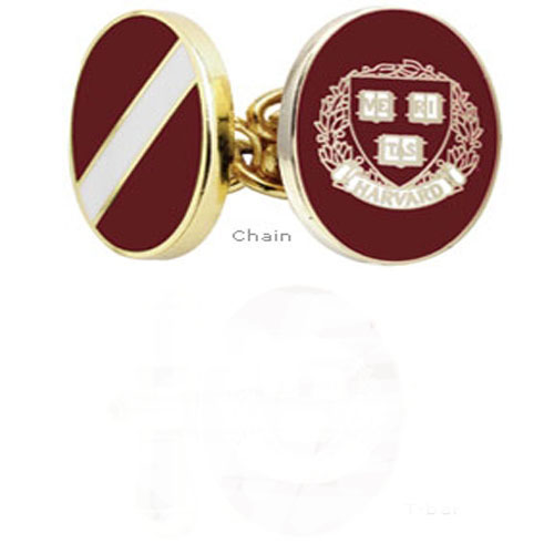 Harvard University Veritas Enamel Cufflinks