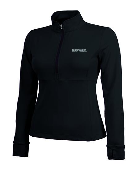 Women's Harvard Black 1/4 Fitness Jacket