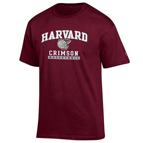 Harvard Basketball Youth Maroon T Shirt