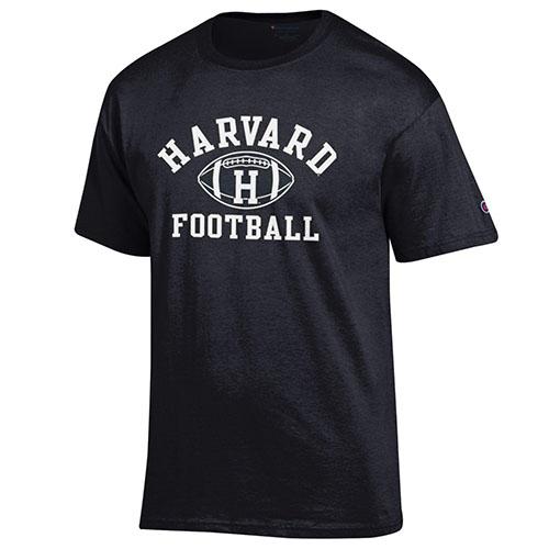 Harvard Black Football T Shirt