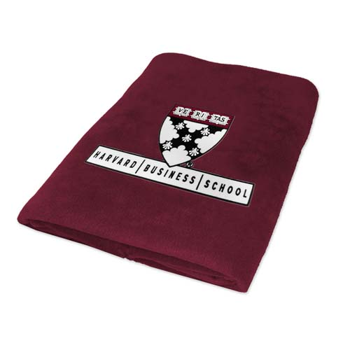 Harvard Business School Fleece Blanket