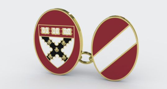 Harvard Business School Enamel Cufflinks