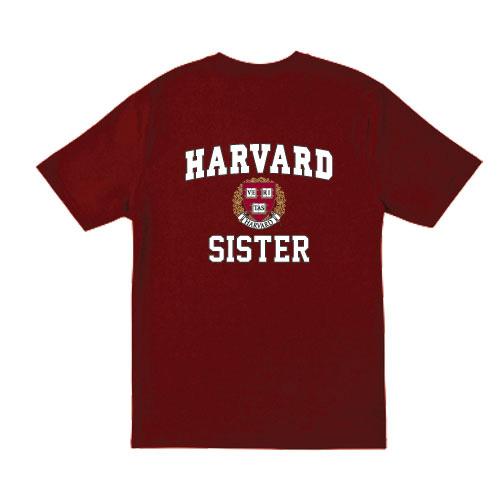 Harvard Sister  Maroon T Shirt