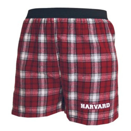 Harvard Flannel Maroon/White Boxer Shorts