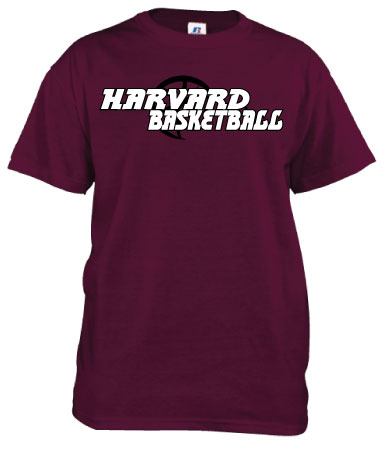 Harvard Maroon Basketball T Shirt