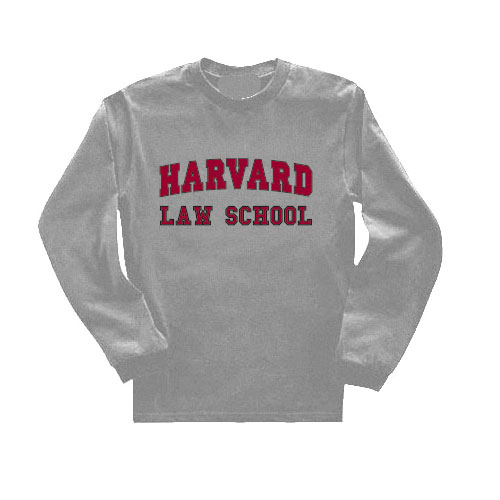 Harvard Law School Grey Long Sleeve T Shirt