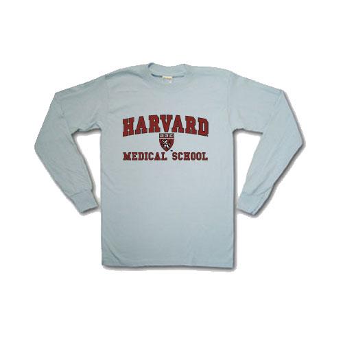 Medical School  Grey Long Sleeve T Shirt