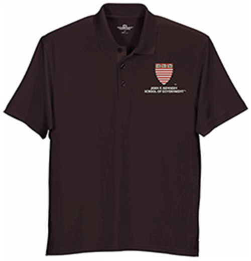 Harvard Kennedy  School Wicking Micro Mesh Maroon Polo