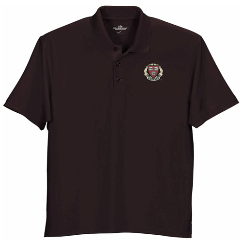 Harvard Veritas Wicking Micro Mesh Maroon Polo