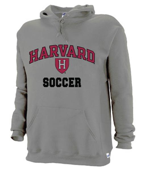 Harvard Grey Soccer Hooded Sweatshirt