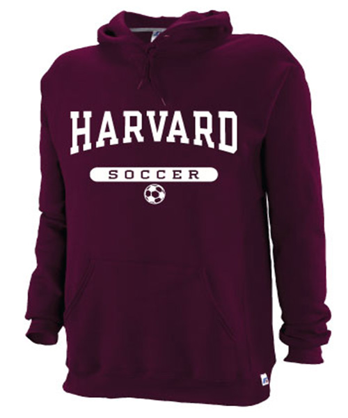 Harvard Maroon Hooded Soccer Sweatshirt