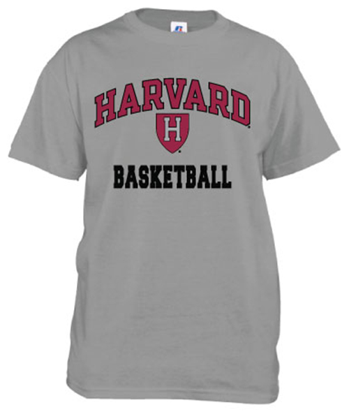 Harvard Basketball Grey T Shirt