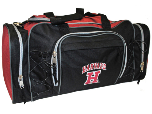 Black-Maroon Harvard Action Duffel Bag