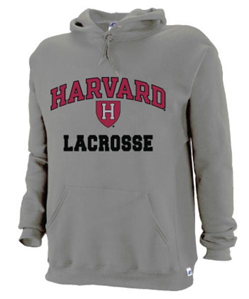 Harvard Grey Lacrosse Hooded Sweatshirt