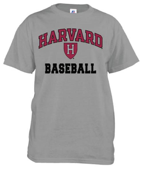 Harvard Baseball Grey T Shirt