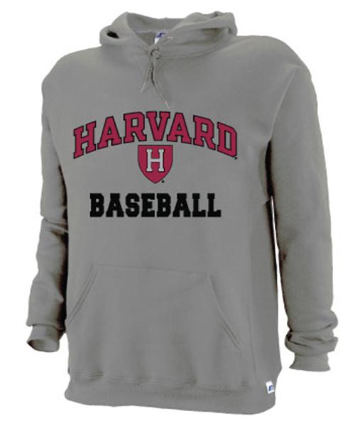 Harvard Grey Baseball Hooded Sweatshirt