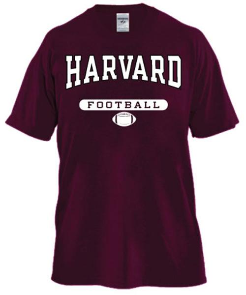 Harvard Maroon Football T Shirt