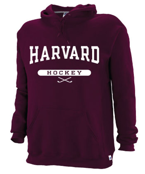 Harvard Maroon Hooded Hockey Sweatshirt