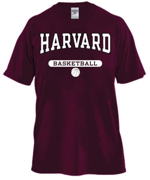 Harvard Maroon Basketball T Shirt