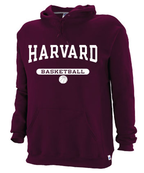 Harvard Maroon Hooded Basketball Sweatshirt