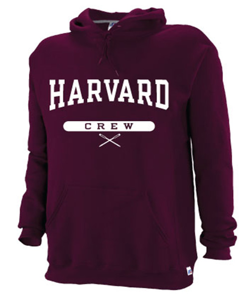 Harvard Maroon Hooded Crew Sweatshirt
