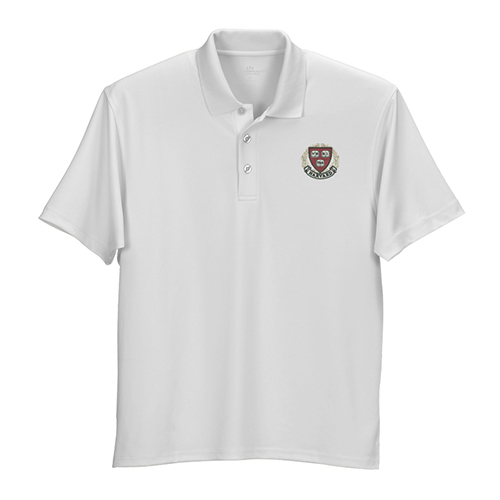 Harvard Veritas Wicking Micro Mesh White Polo