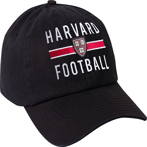 Harvard Veritas Black  Football Embroidered Hat