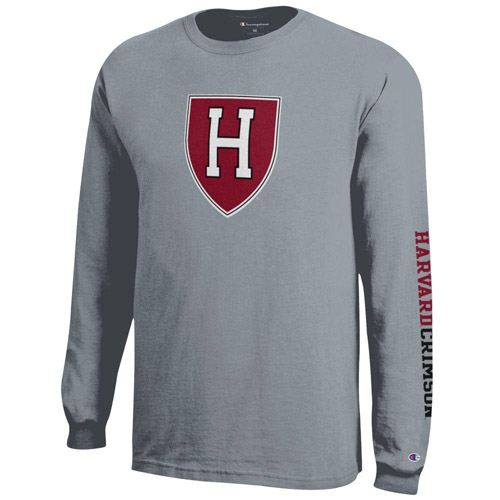 Harvard Athletic Shield Grey Long Sleeve T Shirt