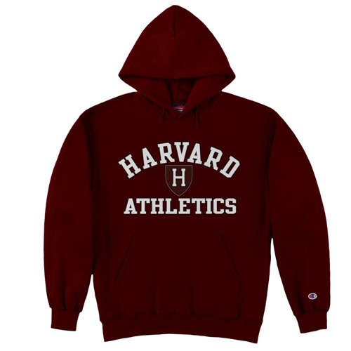 Harvard Athletic Maroon Hooded Sweatshirt