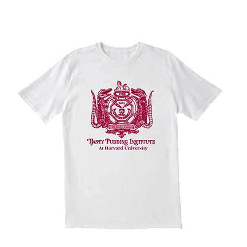 Hasty Pudding White Logo T Shirt