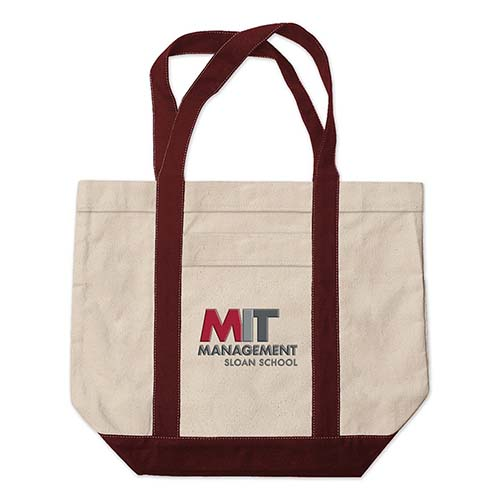 MIT Sloan School School of Management Medium Embroidered Tote Bag