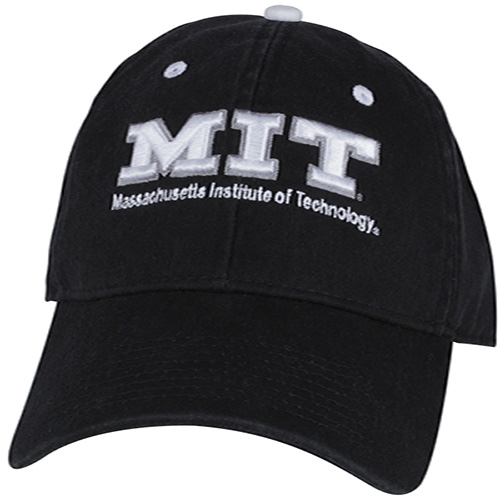 MIT Black Unstructured Hat