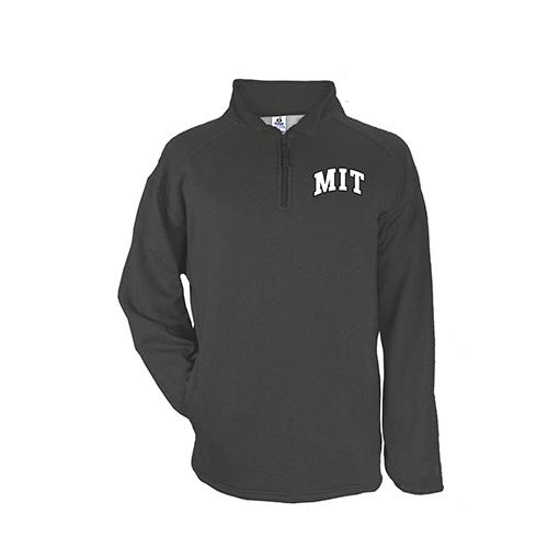 MIT 1/4 Zip Poly Performance  Fleece Graphite Pullover