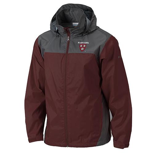 Columbia Glennaker Maroon/Grey Harvard Rain Jacket