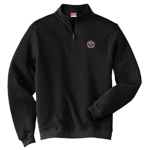 Harvard Lambwool Black 1/4 Zip Sweater