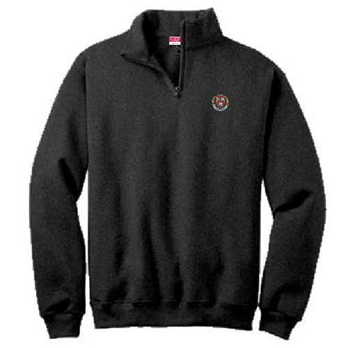 Harvard Veritas Black 1/ 4 Zip Cotton Sweater