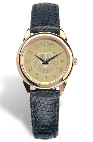 Harvard Ladies Leather Strap Medallion Wristwatch