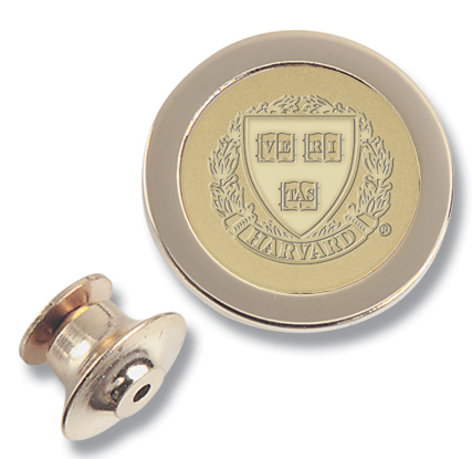 23K Gold-Plated Brass Harvard Lapel Pin