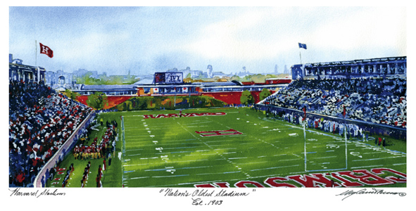 Harvard Oldest Stadium - Mark Waitkus Watercolor