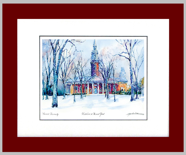 Appleton Chapel in Framed Watercolor Print