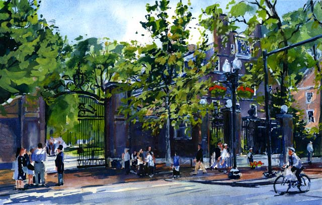 Johnston Gate Watercolor by Mark Waitkus