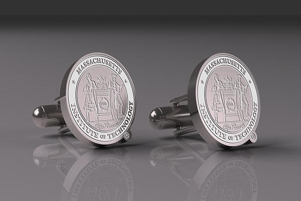 MIT Silver Custom Cufflinks