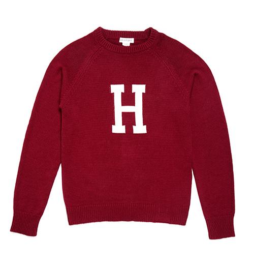 The H  College Crew Neck Harvard Sweater