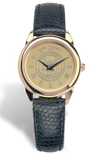 MIT Ladies Leather Strap Medallion Wristwatch #40G-G