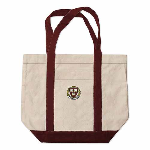 Harvard Seal Extra Large Embroidered Boat Bag